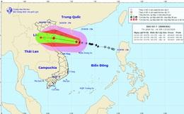 Thêm một áp thấp nhiệt đới hình thành giữa lúc bão số 7 tiến vào đất liền Việt Nam
