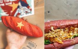 """Xuất hiện loại bánh mì kỳ lạ tại Hà Nội: Bánh mì """"yêu nước"""""""