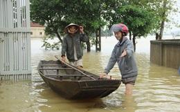 Nước sông Lam dâng cao, Nghệ An ngập lụt trên diện rộng