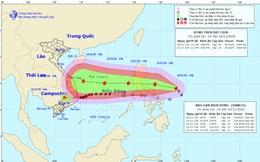 Bão số 13 đang vào Biển Đông dự báo sẽ rất nhanh, rất mạnh