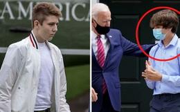 """Bằng tuổi """"Hoàng tử Nhà Trắng"""" Barron Trump, cháu trai của ông Joe Biden cũng gây chú ý nhờ vẻ ngoài anh tuấn cùng chiều cao khủng"""
