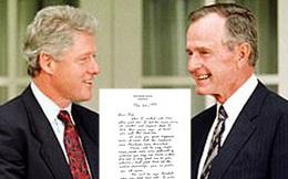 Thư gửi người kế nhiệm của cựu Tổng thống Bush gây 'sốt' trở lại
