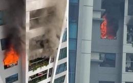 Cháy trên tầng 29 chung cư Goldmark City, hàng trăm người tháo chạy