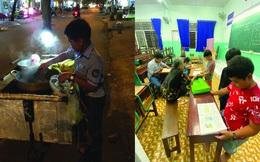 Cậu bé mặc áo đồng phục bán bắp luộc trên đường phố Sài Gòn đã được đi học 1 tuần