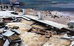 Đường đi bộ hơn 170 tỷ ven đầm ở Lăng Cô tan nát như gặp động đất