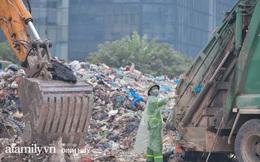 """Flycam: Kinh hoàng """"núi rác"""" bốc mùi nồng nặc nằm giữa trung tâm Thủ đô, người dân kêu trời vì đau đầu nhức mũi, mất ăn mất ngủ"""