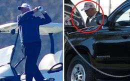 Hình ảnh ông Trump lại lặng lẽ một mình đi đánh golf sau khi thua cử, dòng chữ trên chiếc mũ ông đội khiến nhiều người hâm mộ thêm tiếc nuối