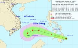 Áp thấp gần Biển Đông khả năng mạnh lên thành bão