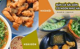 """Hàng bún cá chấm nổi tiếng """"xếp hàng dài cả cây số"""" ngoài Hà Nội bỗng xuất hiện tại Sài Gòn, tưởng là chi nhánh 2 nhưng hoá ra không phải?"""