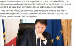 Bức thư đặc biệt của Thủ tướng Ý giữa cuộc chiến chống Covid-19 cho thấy tinh thần và ý chí chiến đấu không mệt mỏi của người dân nước Ý