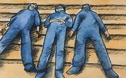 Chùm tranh siêu đẹp mùa dịch: Từ y bác sĩ ăn tranh thủ, ngủ vật vờ đến chiến sĩ làm việc ở khu cách ly