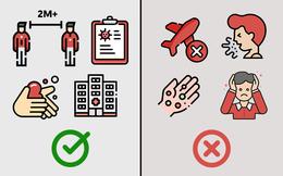 Dịch Covid-19 có dấu hiệu lây nhiễm trong cộng đồng: Bộ Y tế khuyến cáo 6 việc NÊN - 5 việc KHÔNG NÊN thực hiện để duy trì và bảo vệ sức khỏe