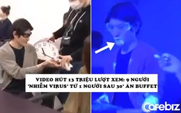 Thí nghiệm hút 13 triệu lượt xem đang gây 'sốc' trên MXH: 9 người 'nhiễm virus' từ 1 người sau 30 phút ăn buffet