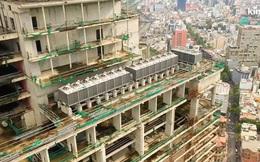 Flycam cận cảnh tòa cao ốc bị bỏ hoang gần một thập kỷ ngay giữa trung tâm Sài Gòn