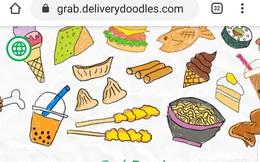 """Cú bắt tay của Grab và Google: Con vẽ đồ ăn bằng Doodle, GrabFood """"biến"""" thành món nóng sốt"""