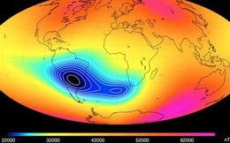 Trên bầu trời Nam Mỹ là một khu vực dị biến làm yếu từ trường Trái Đất, và nó chuẩn bị tách ra làm hai