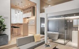 Cận cảnh căn hộ 25m2 nhưng có cả sân và quán bar, vô cùng hiện đại, tiện nghi