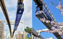 """Không hổ danh """"đất nước ngoài hành tinh"""" trong mắt du khách, Nhật Bản chính là nơi sở hữu đoàn tàu treo ngược dài nhất thế giới hiện nay"""