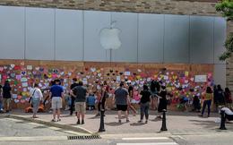 Mặt tiền Apple Store biến thành tác phẩm nghệ thuật chống phân biệt chủng tộc