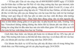"""Phụ huynh một trường tiểu học ở Hà Nội tố bị trường gửi email """"đe dọa"""" sau khi phản đối chính sách học phí mùa dịch"""