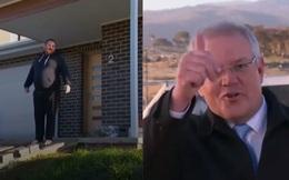 """Dẫm lên bãi cỏ mới trồng, Thủ tướng Úc bị người dân """"quát"""" trên sóng truyền hình trực tiếp"""