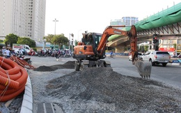 Từ thiết kế đến hiện trường thi công cầu vượt thép 560 tỷ đồng ở Hà Nội