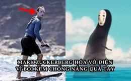 Bôi kem chống nắng trắng bệch cả mặt, Mark Zuckerberg bị chế ảnh khắp mạng xã hội, chẳng khác gì Joker, Vô Diện!