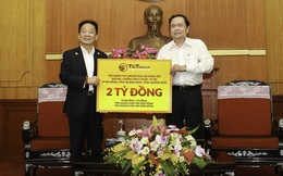Các doanh nghiệp của bầu Hiển ủng hộ 6,1 tỷ đồng cho Đà nẵng, Quảng Nam và Quảng Ngãi chống Covid-19