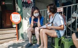 Ảnh: Hà Nội bắt đầu test nhanh Covid-19 những người về từ Đà Nẵng