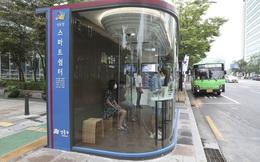 Nhà chờ xe buýt thông minh, ngừa virus tại Hàn Quốc
