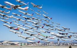"""Ngoạn mục hàng trăm máy bay cất cánh cùng lúc như thể """"tắc đường hàng không"""" cùng loạt khoảnh khắc ở sân bay khiến ai cũng há hốc"""