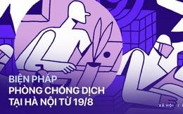 INFOGRAPHIC: Từ ngày 19/8, Hà Nội thực hiện giãn cách để phòng COVID-19 như thế nào?