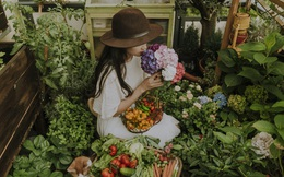 """Mảnh vườn """"nhỏ mà có võ"""": Mẹ Việt ở Đức biến hoá ban công chỉ 8 mét vuông thành góc nhỏ đáp ứng 50% nhu cầu bữa ăn gia đình"""
