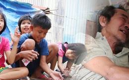 TP.HCM: Cha lấy vợ khác, mẹ bỏ đi, 4 đứa trẻ thất học đội nắng bán vé số kiếm tiền chữa bệnh cho người ông bại liệt