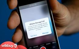 Nếu còn đang dùng iPhone đời cũ, bộ nhớ trong báo đầy liên tục, thử áp dụng những cách này ngay