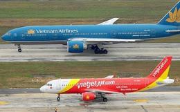 Hình ảnh trái ngược giữa 2 ông lớn hàng không: Trong khi Vietnam Airlines vay thêm hơn 4.000 tỷ đồng thì Vietjet Air lại trả bớt nợ