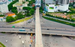 Flycam: Toàn cảnh tuyến đường sắt trên cao Nhổn - ga Hà Nội sắp đi vào hoạt động