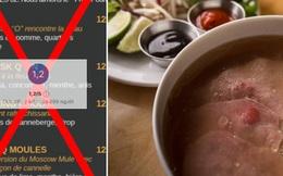 """Cố tình làm menu """"chế"""" Phở thành từ tục tĩu, một nhà hàng ở Canada bị cư dân mạng đồng loạt đánh 1 sao"""