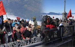 Ảnh: Biển người chen chân lên nóc nhà Đông Dương trong ngày đầu năm mới
