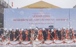 Hà Nội khởi công dự án đầu tư xây dựng cầu Vĩnh Tuy giai đoạn 2 hơn 2.500 tỷ đồng, dự kiến thông xe vào năm 2022