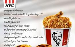 """Nổi như gà rán KFC cũng ăn theo drama Sơn Tùng – Thiều Bảo Trâm chia tay: Chế bài tự sự """"Thương em"""" để đăng quảng cáo trên fanpage chính thức"""