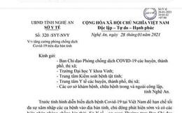 Hà Tĩnh, Nghệ An cách ly những người tiếp xúc với F1 của bệnh nhân 1553