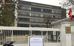 Cận cảnh Vinschool Times City đóng cửa, dán thông báo tạm dừng giảng dạy và học tập vì có 1 học sinh thuộc diện F1