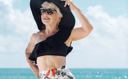 """Cụ bà 74 tuổi, tập gym 4 năm, giảm 28 kg nhắn gửi người trẻ tuổi: """"Làm mới"""" bản thân không bao giờ là quá muộn!"""