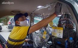 Người dân TP.HCM chính thức được đi ô tô công nghệ trở lại, trong xe trang bị màn ngăn phòng dịch