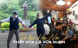 Nhiều người trở lại Hà Nội sau gần 3 tháng, lên phố tận hưởng buổi sáng bình thường mới cảm giác vừa lạ, vừa quen