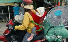 Giữa dòng người rời Sài Gòn tránh dịch, mẹ địu con chạy xe máy 400km về với Tây Nguyên