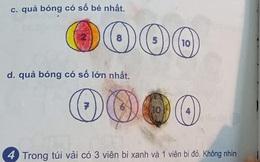 """Bài toán lớp 1: """"Trong túi có 3 bi xanh - 1 bi đỏ. Làm thế nào để bốc 1 lần được 1 bi xanh và 1 bi đỏ"""", phụ huynh chào thua nhưng đáp án siêu dễ"""
