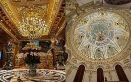 Choáng ngợp toà lâu đài toàn gỗ dát vàng của đại gia Việt: Nguy nga như cung điện, 10 người lau dọn cũng chưa hết