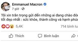 """Thông điệp chúc tết bằng tiếng Việt của Tổng thống Pháp nhận """"bão like"""""""